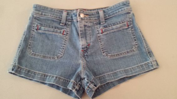 Levi's Strauss Low Rise Stretch Blue Jean Short Shorts Womens Sz 5  #Levis #MiniShortShorts