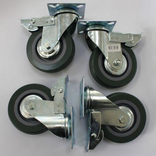 MØbelhjul 4 stk kun 149,95 kraftige hjul til bl.a. møbler med ...