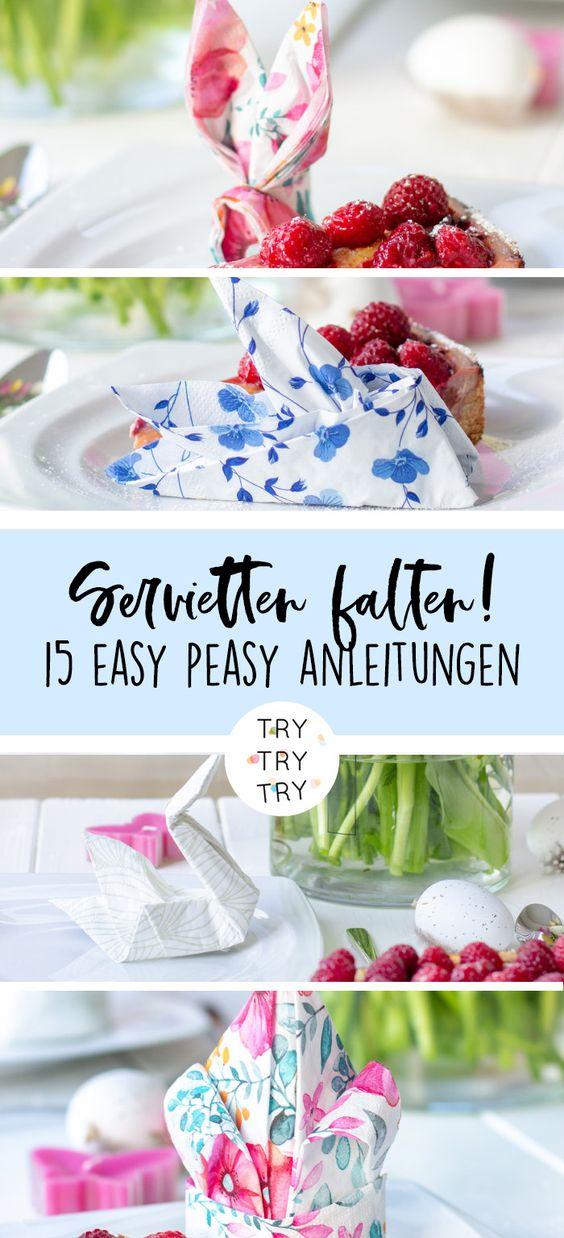 Kreativ Servietten falten für die Ostertafel (mit roombeez)