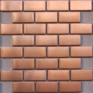 11sf Hexagon Mosaic Tile Copper Rose Gold Black Stainless Steel Backsplash Wall And Mosaics