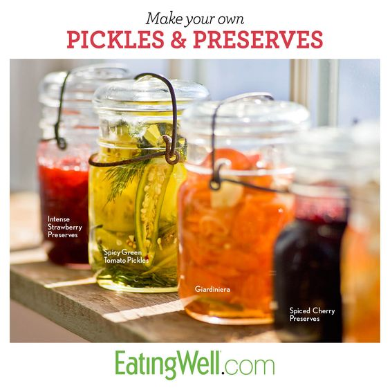 25 easy recipes for homemade pickles, strawberry jam and more.
