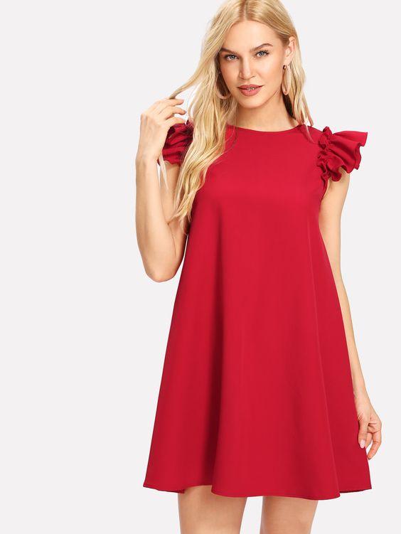 Vestido Soltinho excelente vermelho