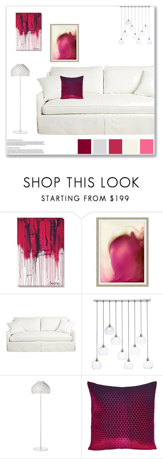 """""""Home set 1 12/15/2015"""" by aneetaalex ❤ liked on Polyvore featuring interior, interiors, interior design, home, home decor, interior decorating, CB2, Flos and Kevin O'Brien"""