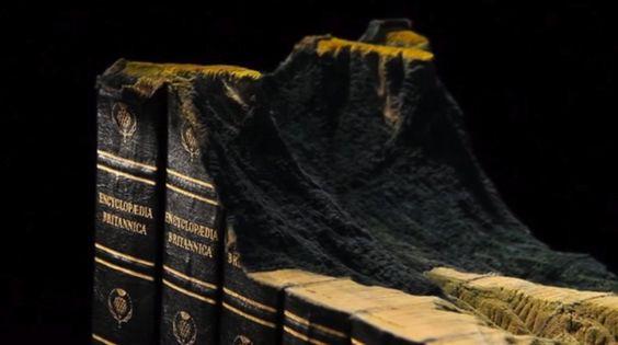 Artist Turns Old Encyclopedia Set Into Sprawling Mountainous Landscape: