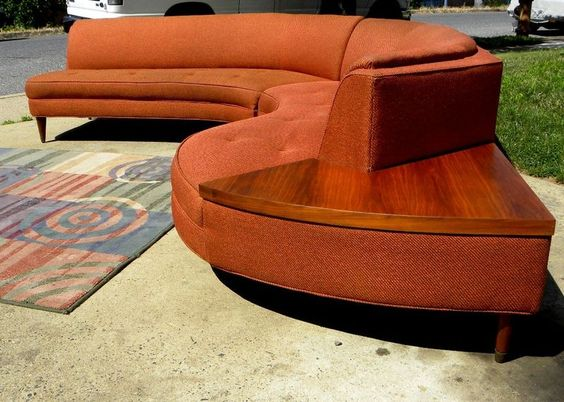 Sofas awesome and sectional sofas on pinterest for Vintage mid century modern sectional sofa