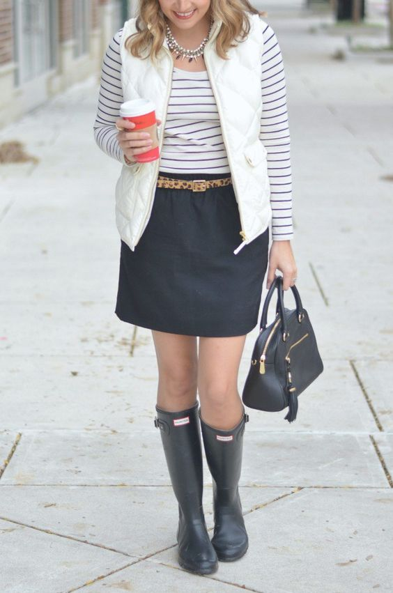 Puffer Vest, Hunter Boots + UncommonGoods - Fizz and FrostingFizz and Frosting