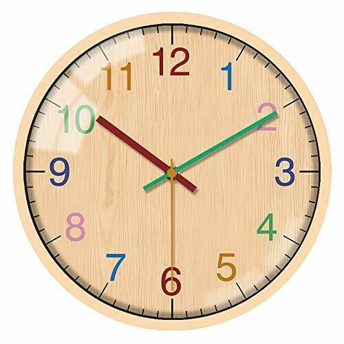 Decorative Wall Clocks Battery Operated Non Ticking 10 Inch Silent For Home In 2020 Wall Clock Clock Wall Decor Clock