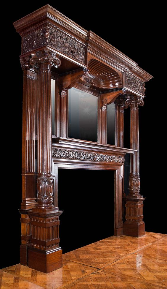 Antique Mahogany Late Victorian Fireplace Mantel Fireplaces Pinterest Fireplaces