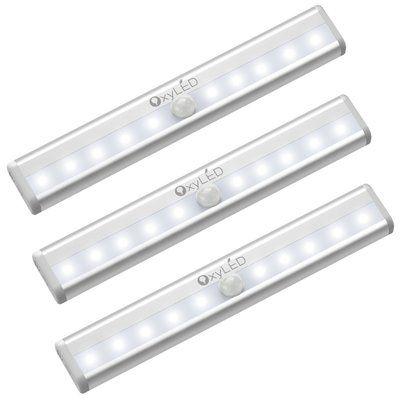 Oxyled 10 Light Led 7 9 Under Cabinet Light Bar Closet Lighting Led Night Light