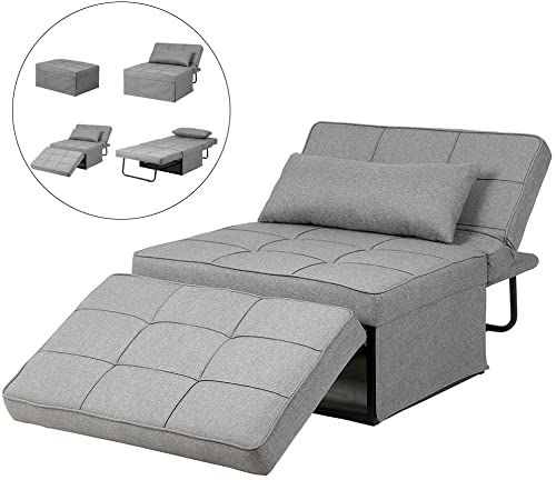 Buy Diophros Folding Ottoman Sleeper Guest Bed 4 1 Multi Function Adjustable Ottoman Bench Guest Sofa Chair Sofa Bed Light Grey Online Nicetopnice In 2020 Chair Sofa Bed Ottoman Sofa Bed Sleeper Ottoman