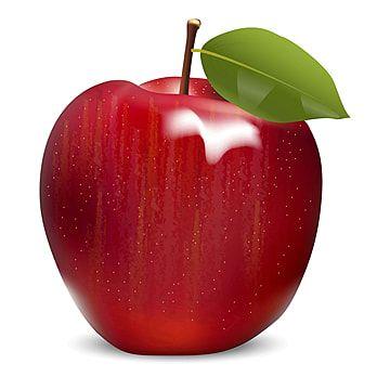 Red Glow Red Apple Fruit Vector Apple