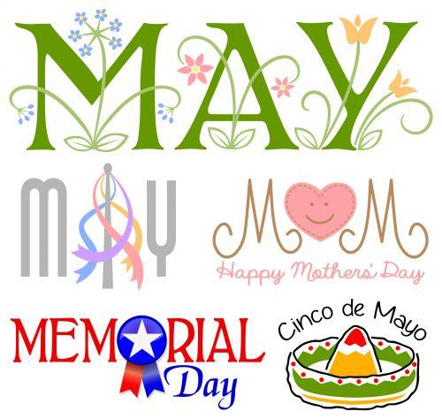 memorial day may calendar