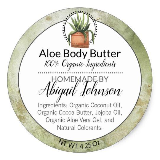 Watercolor Green Homemade Scrub Body Butter Label Zazzle Com Homemade Scrub Body Butter Labels Body Butter