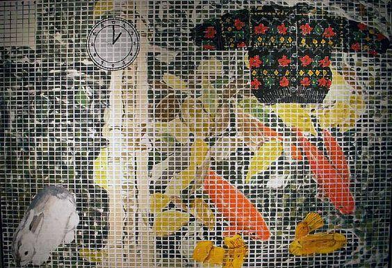 1 PM, Yellow Socks,Jennifer Bartlett