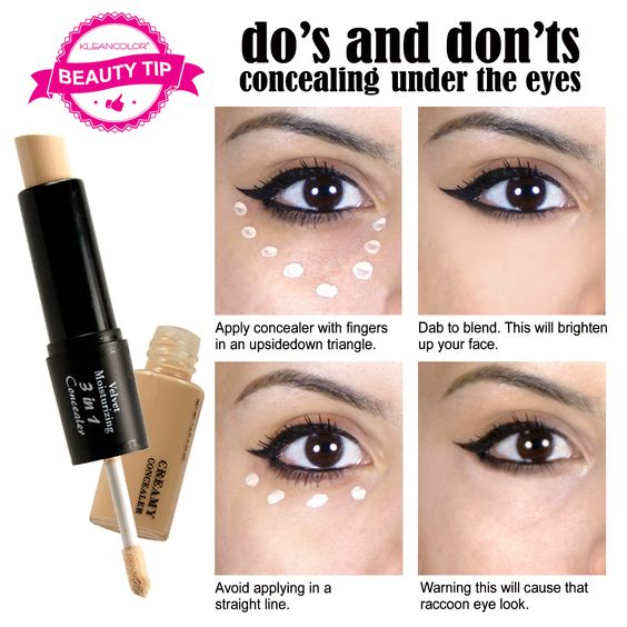 "Here is the best under-eye #concealertip, the ""triangle ..."