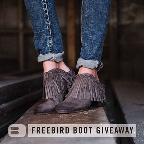 Enter for a chance to win a pair of Freebird boots from Buckle! Repost this image or share a picture of your own Freebirds, then tag @Buckle, #BuckledOut and #BuckleSweepstakes. We'll pick 5 winners on 10/29/15. See buckle.com/IGRules for official rules.