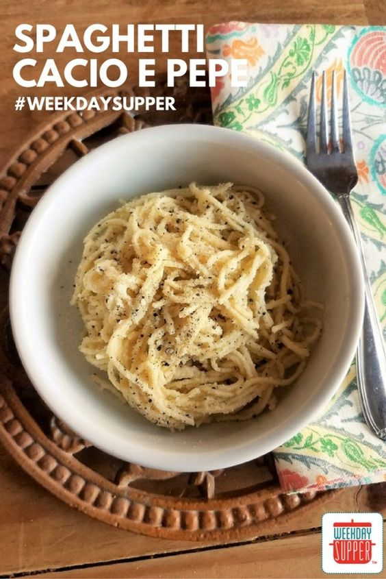 Spaghetti Cacio e Pepe #WeekdaySupper #Giveaway Spaghetti Cacio e Pepe is a simple dish that depends on the best ingredients, like handmade egg pasta. It's actually easy to make with the right directions!