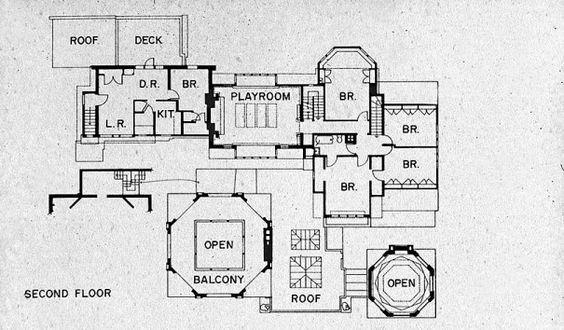 Second Floor Plan House Frank Lloyd Wright Home And