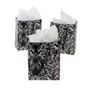 Small Black & White Wedding Gift Bags