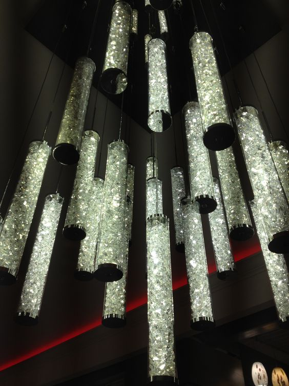 Crystal Lighting Tubes Wonder If Could Make With Clear