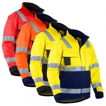 """Arbeits-Bundjacke HIGH-VIS """"4064"""" - BLAKLÄDER® #warnschutzjacke #warnschutz #warnschutzwinter"""