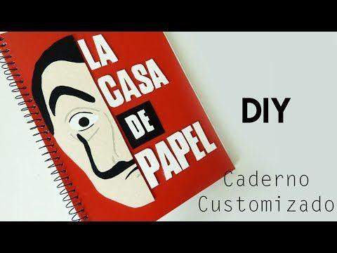 Diy Videos Diy Como Fazer Um Caderno La Casa De Papel