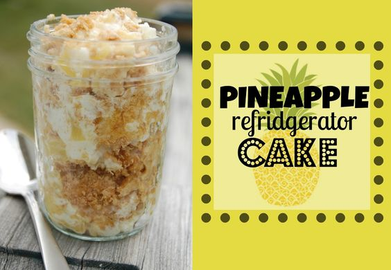 Pineapple refrigerator cake