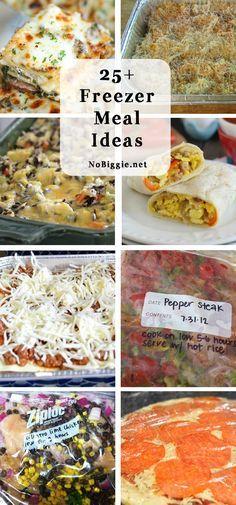 25+ freezer meal ideas | NoBiggie.net