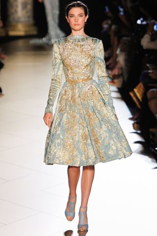 Elie Saab - it looks like it's covered in gold leaf