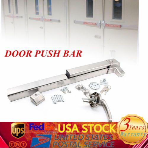 Exit Panic Bar Push Door Device Emergency Push Bar Commercial Grade New Ebay Link Doors Construction Bar
