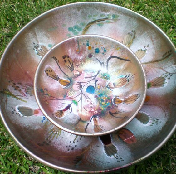 Antique California Cloisonne Bowls 2 by BlancheB on Etsy, $150.00
