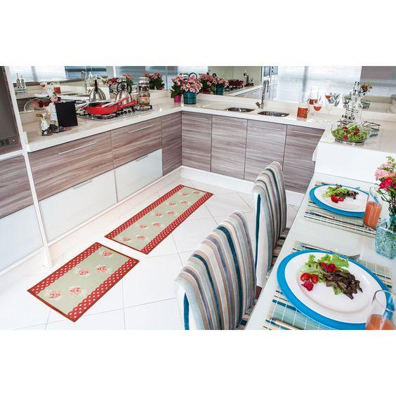 Tapete Rosas, coleção Bella Cozinha.