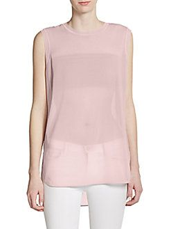VINCE Silk Sleeveless Top. #vince #cloth #top