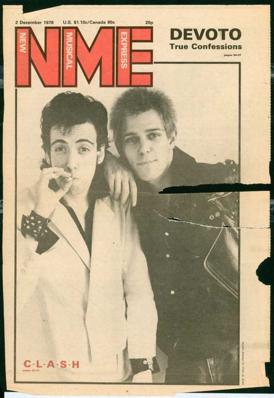 New Musical Express, 2nd December 1978, Mick Jones and Paul Simonon (The Clash)