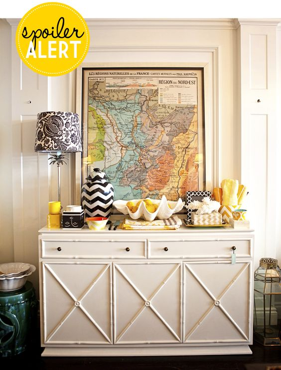 Adore Home magazine - Blog  Map and colourful console