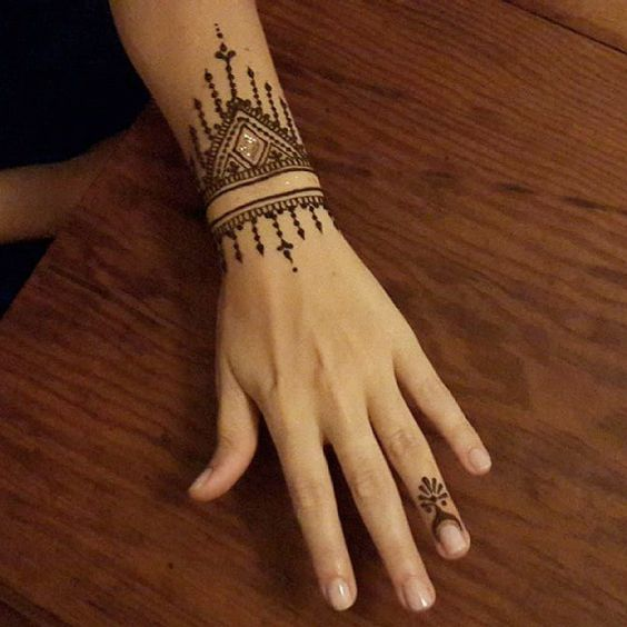 25 Simple Wrist Henna Tattoos: Mehndi By Nindya Henna Studio
