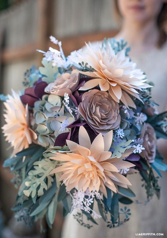 Paper bouquet, Diy paper and Queen annes lace on Pinterest