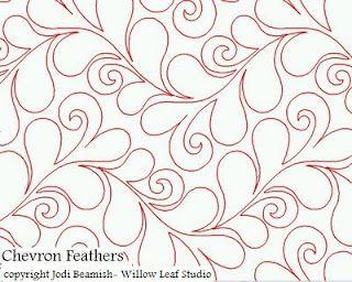 Chevron Feathers--Jodi Beamish