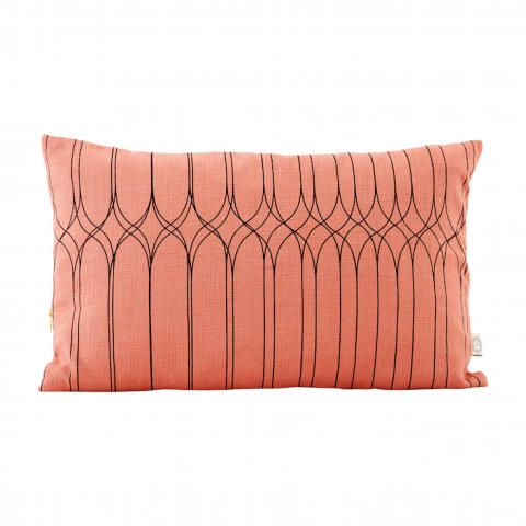 House Doctor Coral Pink Cushion - Trouva