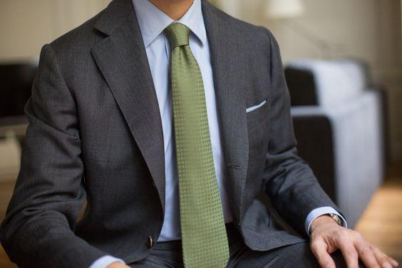 Sartoria & Co | In praise of green ties…  Sartoria Pino Peluso...