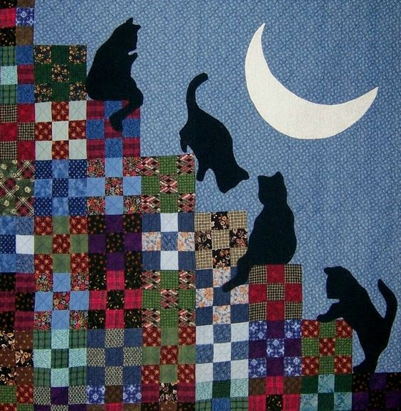 cat quilts | Quilt Inspiration: The Best of Cat Quilts! Part Three: