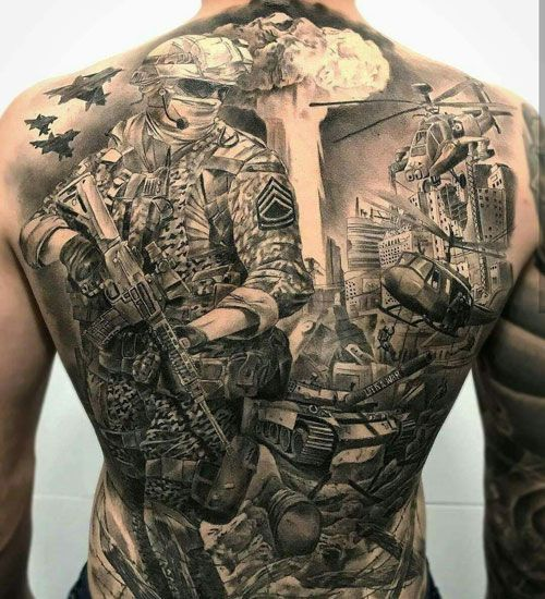 125 Best Back Tattoos For Men Cool Ideas Designs 2020 Guide Army Tattoos Military Tattoos Samoan Tattoo