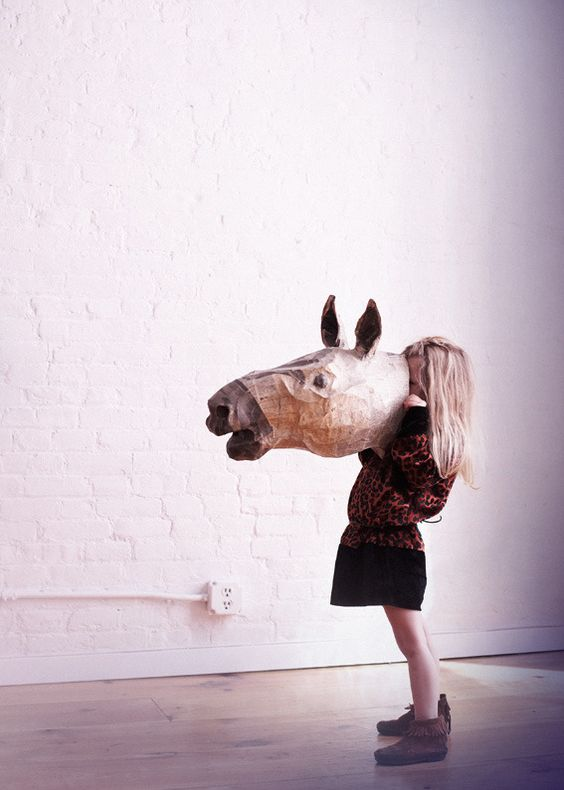 how to make a paper mache horse mask