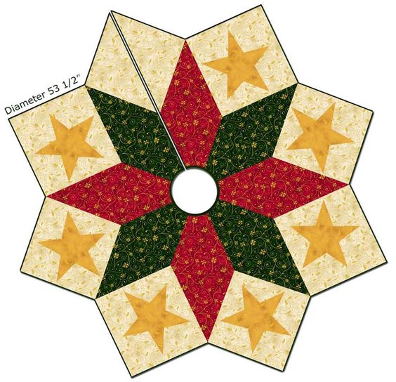 Quilted Christmas Tree Skirt Pinterest : Free pattern, Christmas tree skirts and Tree skirts on Pinterest