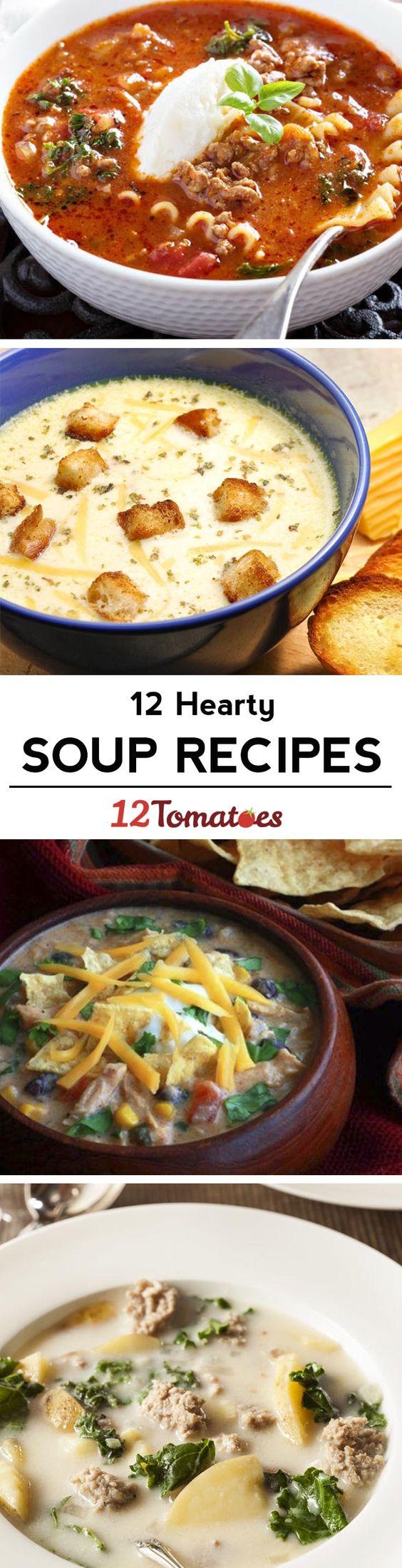 12 soup recipes to get you through the winter!
