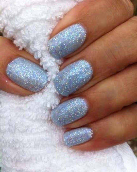 2020 Winter Nails Designs Google Search Blue Glitter Nails