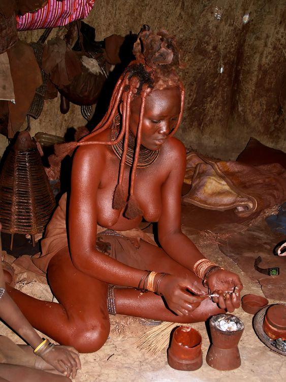 Himba woman of northern Namibia