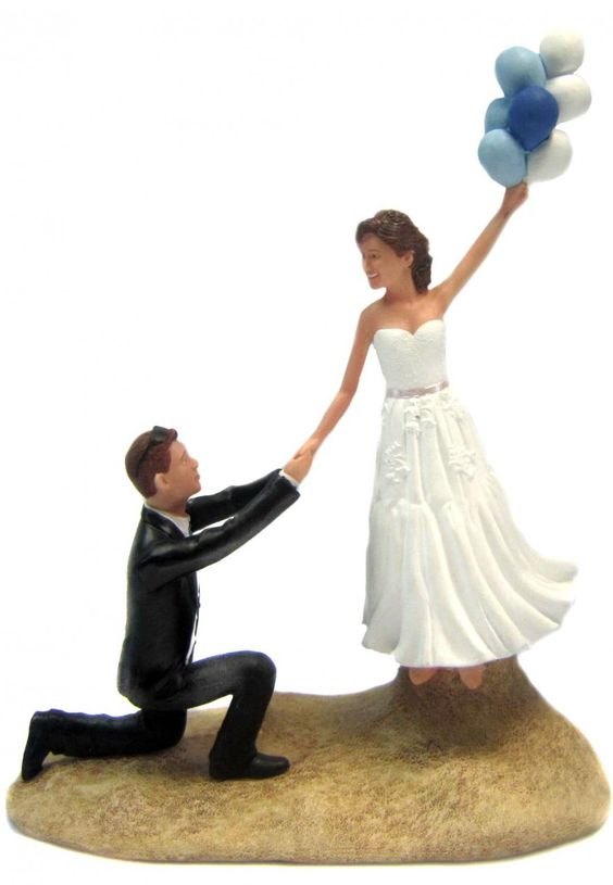 wedding cake toppers that look like bride and groom up up and away wedding cake topper is sculpted to look 26608