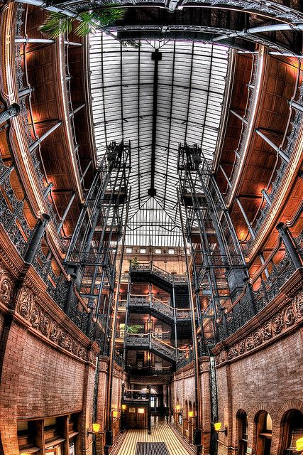 a building with gorgeous architecture {may 6: how could I not pin the Bradbury Building?}