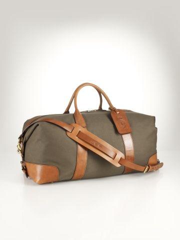 Ralph Lauren Orange Polo Chic Canvas Handbag